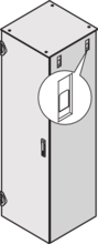 Side panel (Varistar), with quick-release fastener for IP 20