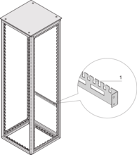 Cable support rail for cabinet width (Varistar)