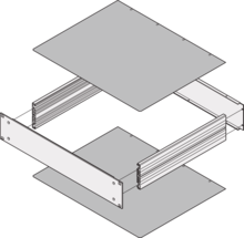 Top cover/base plate, non-perforated