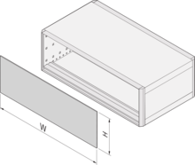 EMC front panel/rear panel, inserted, shielded (RatiopacPRO/-air)