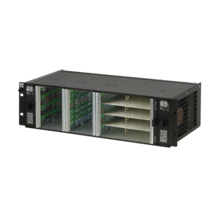 MicroTCA.0 3 U system, for 2 single and 4 double (8 single) full-size AdvancedMC modules