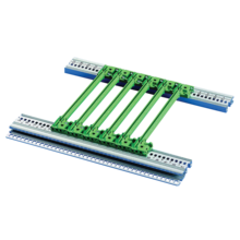 """Guide rails, one-piece, for CompactPCI, VME64x, offset 0.1"""""""