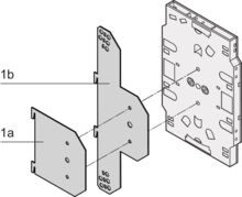 Insertion plate for splicing cassettes