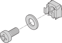 """19"""" fixing material kit (screw, washer, nut)"""