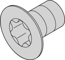 Screws for rugged units, horizontal rail - side panel - cover plate - rear angle
