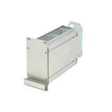 Frame type plug in unit kit, shielded (textile), with perforations, rear cutout for single connector 3/6 U