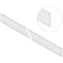 Inpac Perforated Rail for Mounting of DIN Connectors EN 60603-2, DIN 41612