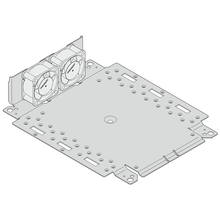 Interscale Mounting Plate With Built-In Fan Holder and Fans