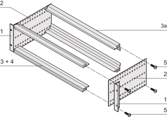 EuropacPRO kit, flexible design, unshielded, for connector mounting