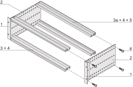 EuropacPRO kit, heavy design, unshielded, for backplane mounting