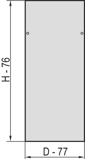 Side panel with side panel catches (Eurorack), RAL 7021/RAL 7035