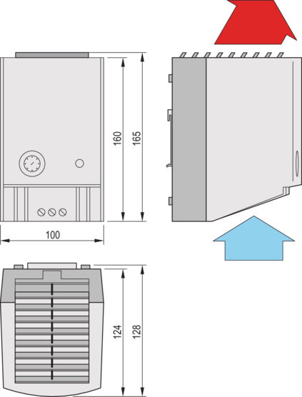 Heater 475/550 W with thermostat and fan