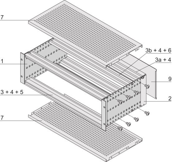 EuropacPRO kit, heavy design, shielded, for backplane mounting
