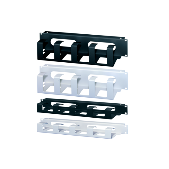 """19"""" front panel with cable ducting and cable through ducting"""