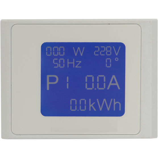 """SCHUKO Socket strips, 6 sockets, 19"""", with power measurement readout on local display"""