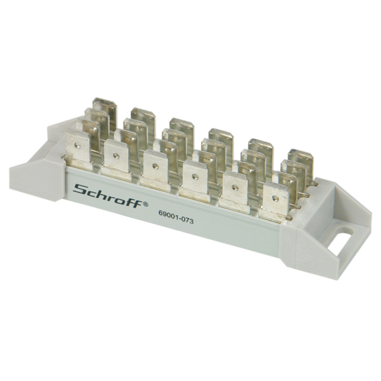 Busbar, 4-pole for Faston connectors, 6.3 x 0.8 mm