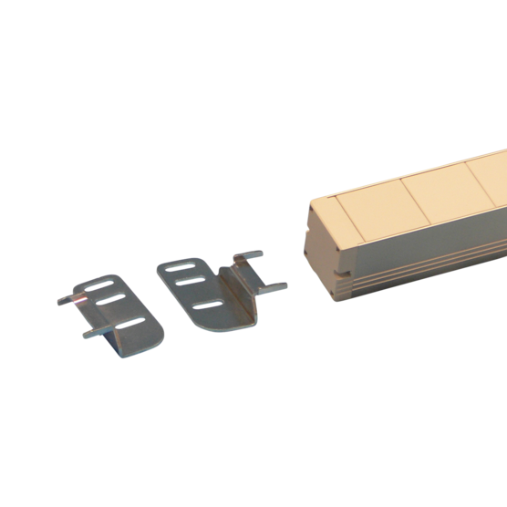 Mounting plate for mounting of two socket strips side by side