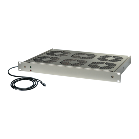 """19""""-fan 1 U, with speed control and function monitoring, 24 VDC or 230 VAC"""