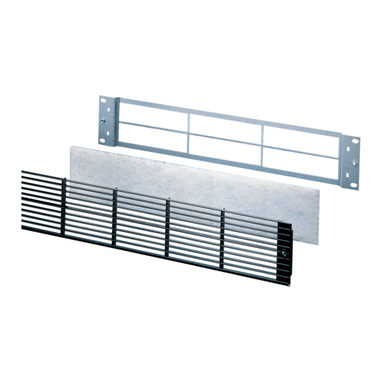 """19"""" vented front grille 2 U"""