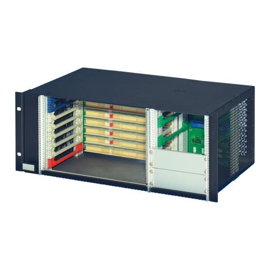 """Subrack system with 64-bit CompactPCI, PSB, H.110 backplane; 6 U, horizontally mounted, with rear I/O for 19"""" PSU"""