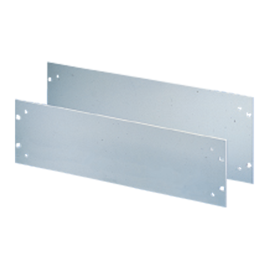 """19"""" front panels with holes for handles"""