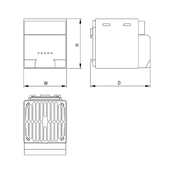 Heaters with heater fans from 150 W to 400 W