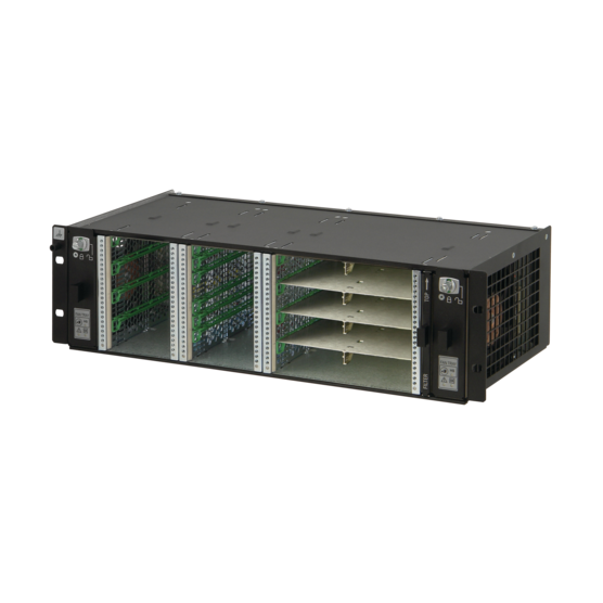 MicroTCA.0 3 U system, for 2 single and 4 double (8single) full-size AdvancedMCmodules