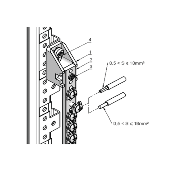 Grounding/Earthing Busbar Kit with Screw Clamps