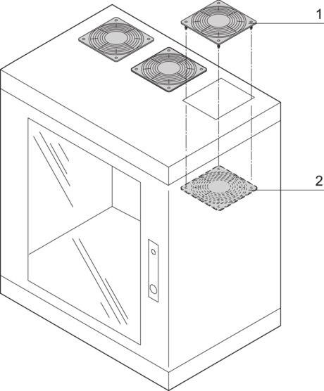 Protective grille (Epcase), for passive cooling