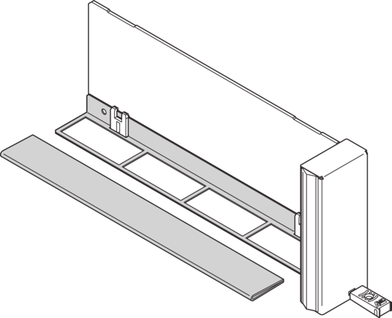 Air baffle, for filler module ECO with fixed handle