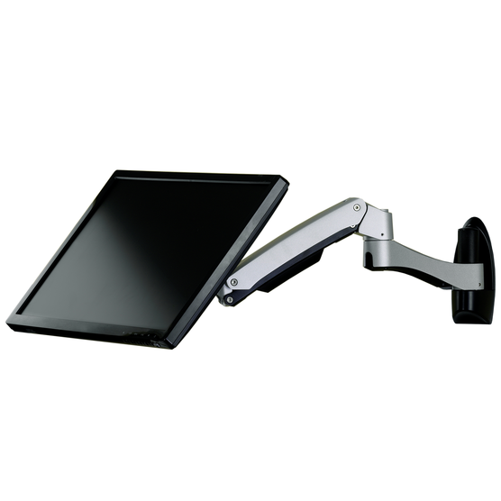 Adjustable Monitor Arm with monitor