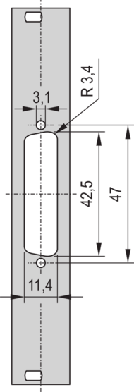 """19"""" Front Panel with SUB-D Cut-Out"""