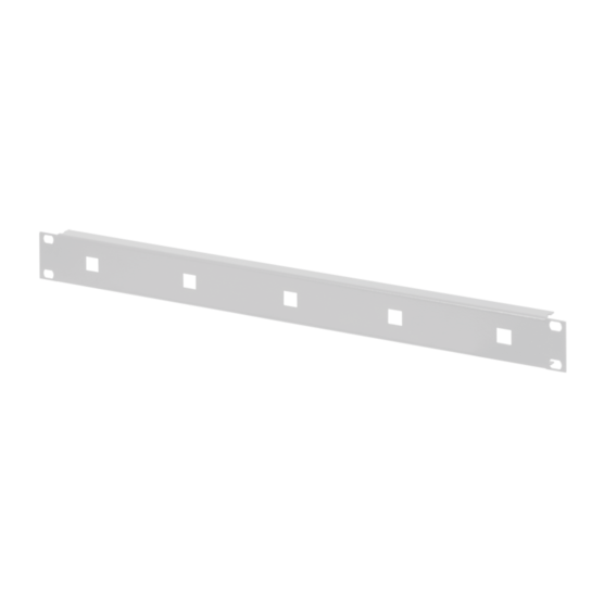 """19"""" front panel for cable eyes"""