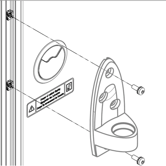 Monitor Arm Mounting Kit for Novastar Cabinet