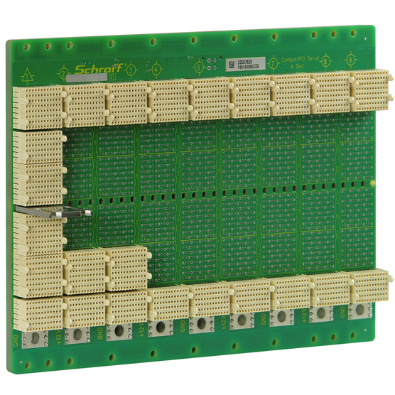 CPCI Serial Backplane, 3 U, 9 Slot, System Slot Left, Full-Mesh, Without RIO