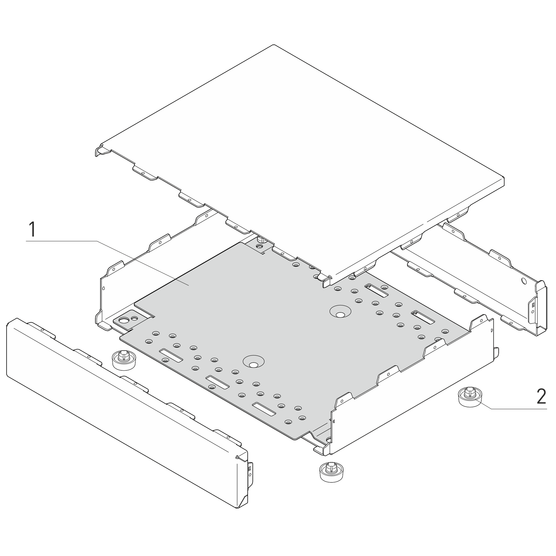 Interscale Mounting Plate for PCB