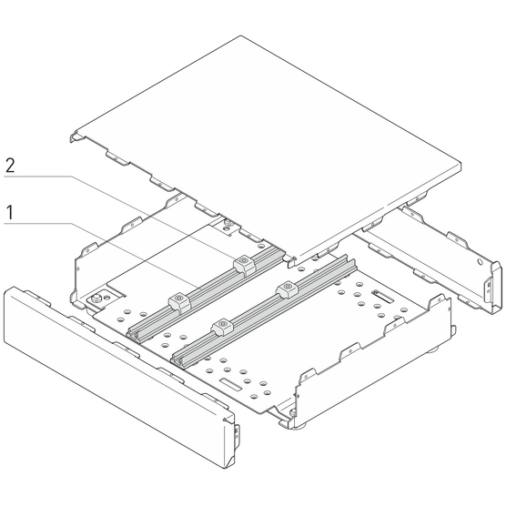 Interscale Flexible Rail System for Mounting PCBs