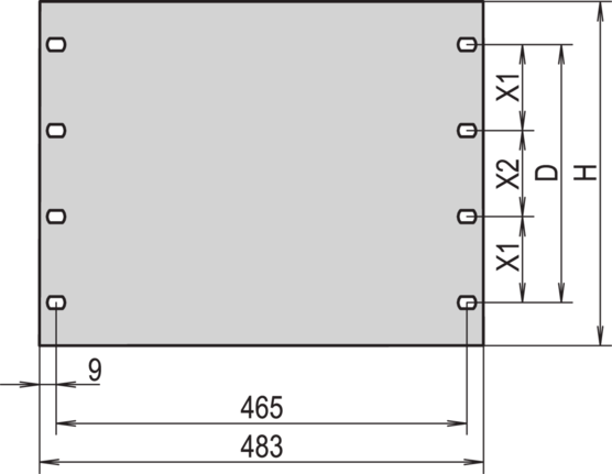 """19"""" front panel"""