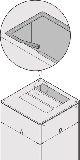 Flush top cover, with cutout zones (Varistar)