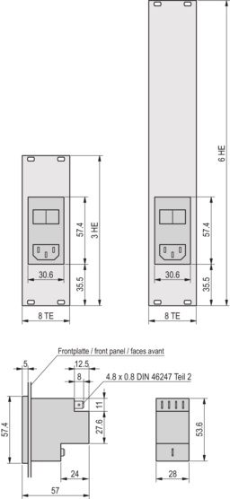 AC input module with filter