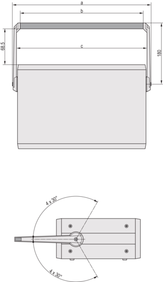Tip-up carrying handle (CompacPRO)