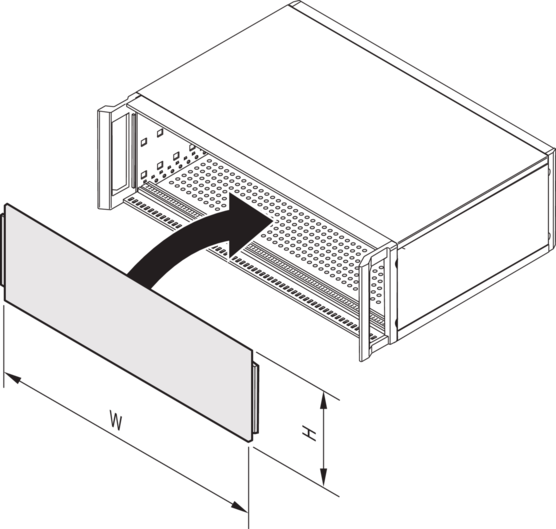 Front panel, full width, slotted, unshielded (RatiopacPRO/-air)