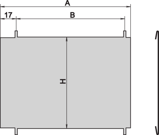 Divider plate (RatiopacPRO/-air, PropacPRO, EuropacPRO)
