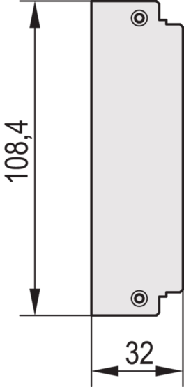 Rear Panel, without cut-out, high frequency