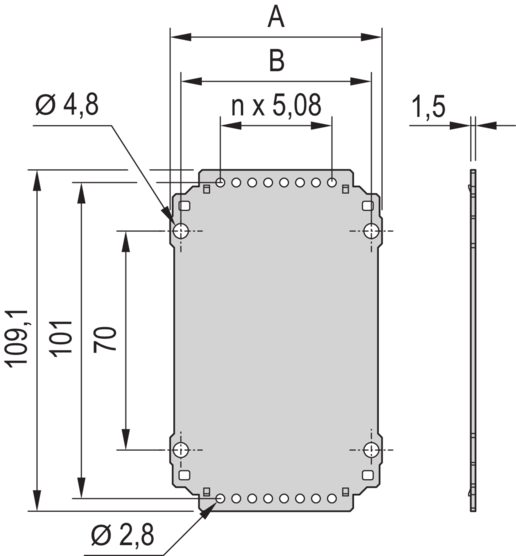 Rear Panel, without cut-out