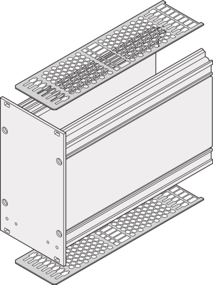 Cover Plate, with perforation, guide rail compatible