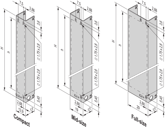 Module with pull handle mechanism, PICMG AMC.0 R2.0