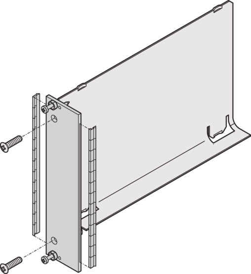 Air baffle with front panel, shieldable, stainless steel (RatiopacPRO/-air, EuropacPRO)