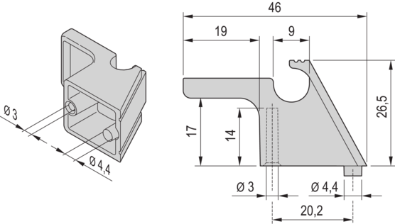 Cable holder (PropacPRO, RatiopacPRO, CompacPRO)