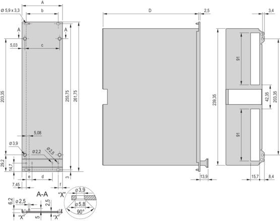 Frame type plug in unit kit, shielded (textile), with hood